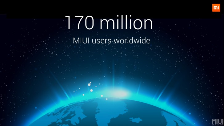 Xiaomi MIUI now boasts over 170 million users worldwide