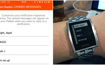Latest Pebble firmware update brings custom messages, third party access to the step and sleep tracker