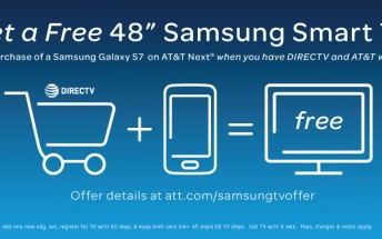 AT&T will give you a free 48-inch Samsung smart TV when you buy a Galaxy S7 or S7 edge