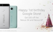 The Google Store is turning one, so the Nexus 5X and 6P come with $50 off