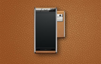 Vertu Aster: Caramel calf leather