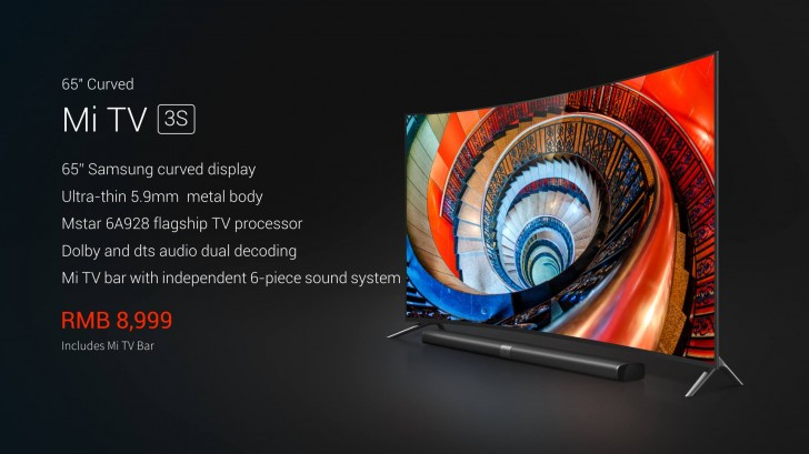 Xiaomi Unveils Curved 65 Quot Mi Tv 3s With 4k Samsung Screen