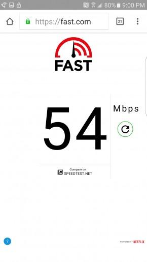download speed netflix