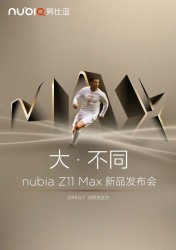 Nubia Z11 Max launch date poster