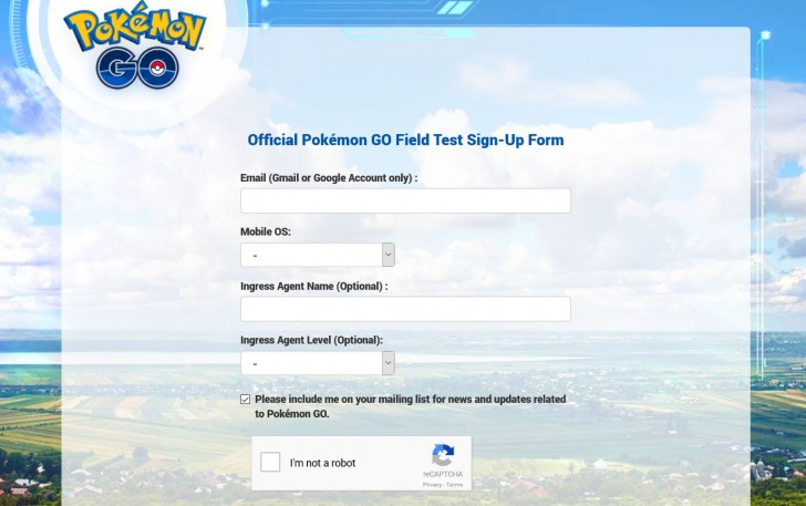 Pokemon Go U S  Beta is live, sign up form available now