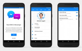 Facebook Messenger for Android now supports SMS