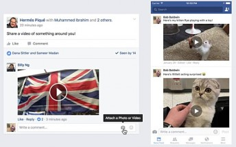 Now you can leave video comments on Facebook posts