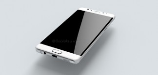 A 3D render of the Samsung Galaxy Note 6 (based on leaked blueprints)