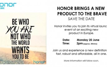 Huawei plans to launch a new Honor smartphone in Europe on June 20