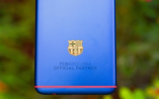 The FC Barcelona logo 18K gold