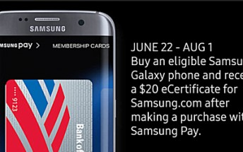 Making a Samsung Pay purchase from your new Samsung phone will net you '$20 off' voucher