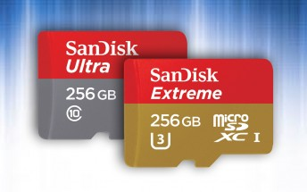 SanDisk unveils 256GB microSD cards in Ultra and Extreme forms