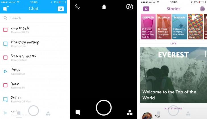 Snapchat Overhauls Ui Gsmarena Blog