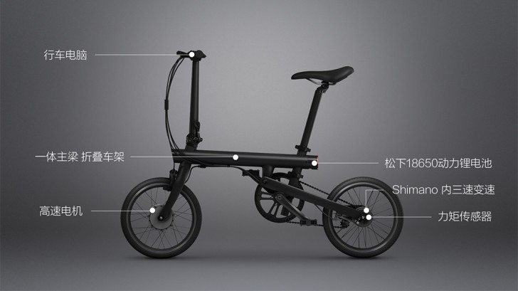 xiaomi qicycle is an affordable foldable smart electric bike gsmarena blog. Black Bedroom Furniture Sets. Home Design Ideas