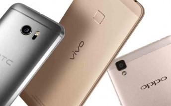 HTC forecasted to produce only 13 million smartphones this year, Oppo and vivo on the rise