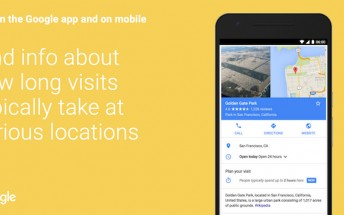 Google will now tell you the duration people typically spend at a location