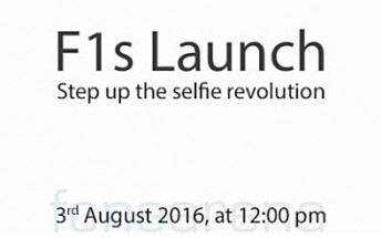 Oppo sends out press invites for F1s' unveiling on August 3