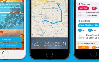 Snorelax is an iOS alarm app that wakes you up earlier if there are traffic jams on your way to work