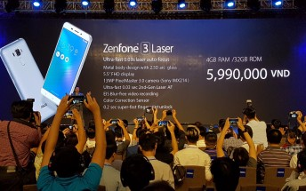 Asus announces the Zenfone 3 Laser and Zenfone 3 Max