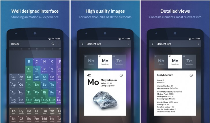 Best apps and games of the week gsmarena blog isotope is a periodic table app for android the app features a bunch of information about the various elements on the table all in a beautiful design with urtaz Choice Image