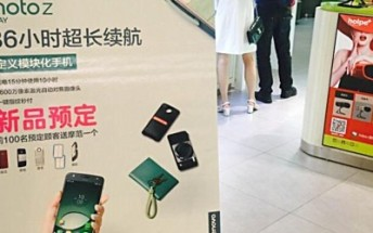 Motorola Moto Z Play spotted in promotional poster in China