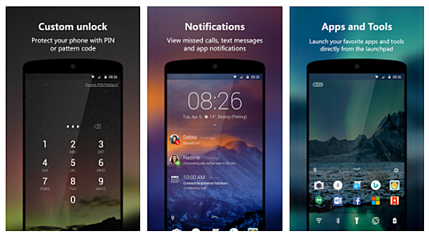 New update to Microsoft Next Lock Screen for Android brings
