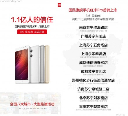 Xiaomi Redmi Pro going on sale August 6