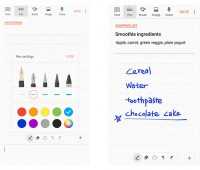 Samsung Notes in action