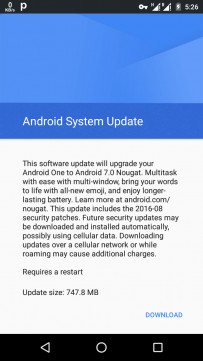 Android 7.0 Nougat is ready to be installed on Android One phones