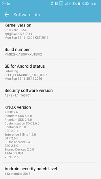 Samsung Galaxy A8 is also getting September security update