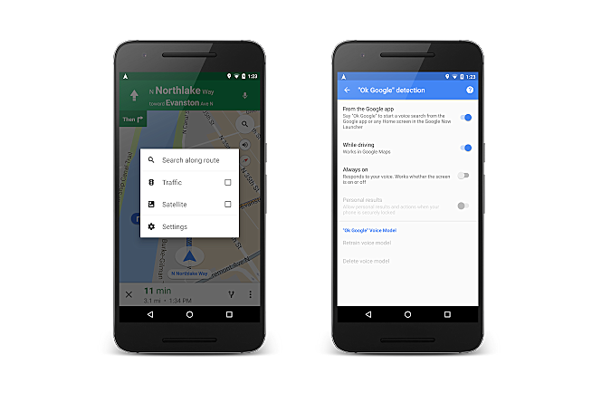 Google S Maps App Gets Ok Google Hands Free Voice Search