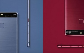 Huawei P9 now available in dark red or blue