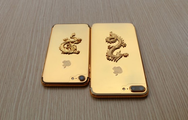 Hereu0026#39;s a 24K gold-plated iPhone 7 with a dragon and ...
