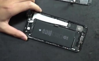 Apple iPhone 7 Plus disassembled on video