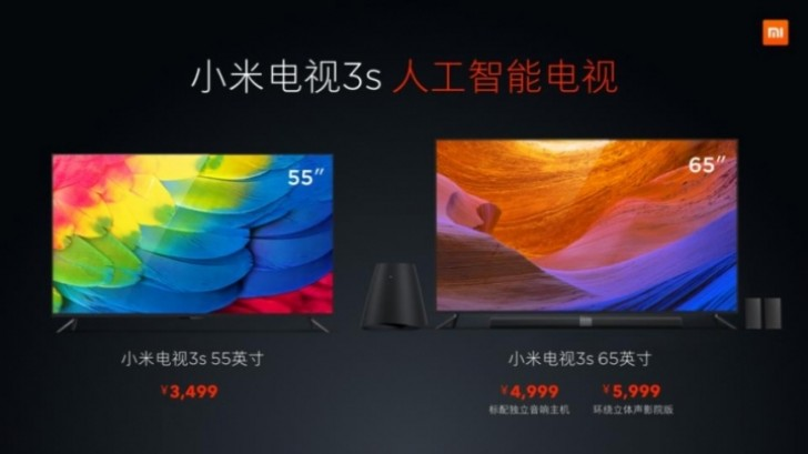 Xiaomi Mi Tv 3s 55 Quot And 65 Quot 4k Tvs With Hdr And Great