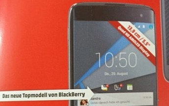 BlackBerry DTEK60 now spotted in leaked advertisement