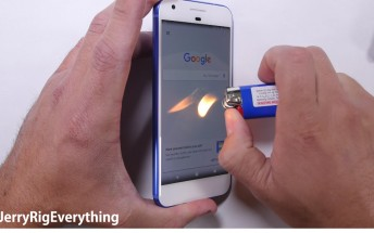 Watch the Google Pixel and LG V20 go through scratch and burn tests