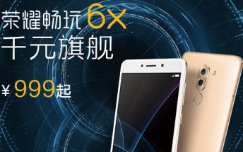 Honor 6X gets 1 million registrations within first day of launch