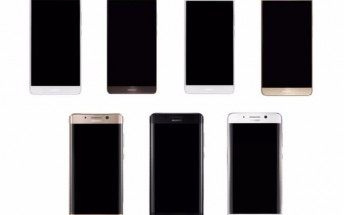 Leaked renders show Huawei Mate 9 coming in two versions, one with a curved screen