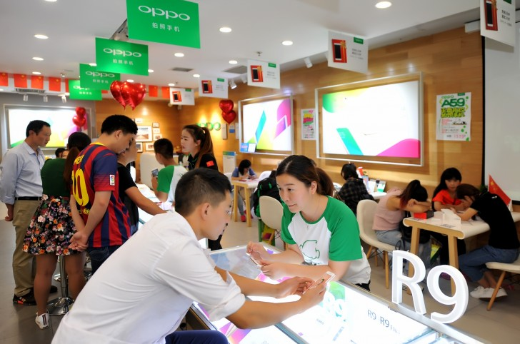 oppo r9 iphone 6s lead offline sales in china   gsmarena