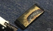 Galaxy Note7 deemed safe catches fire on a plane