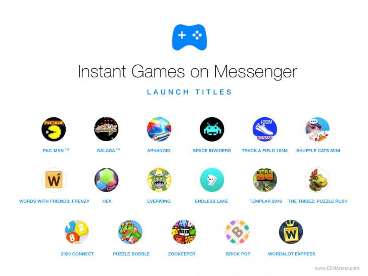 Instant Games are now built into Facebook Messenger - GSMArena blog