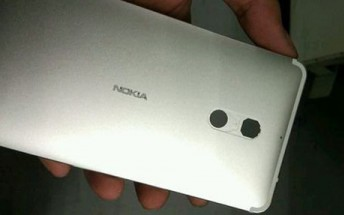 Photos of a Nokia-branded metal phone surface