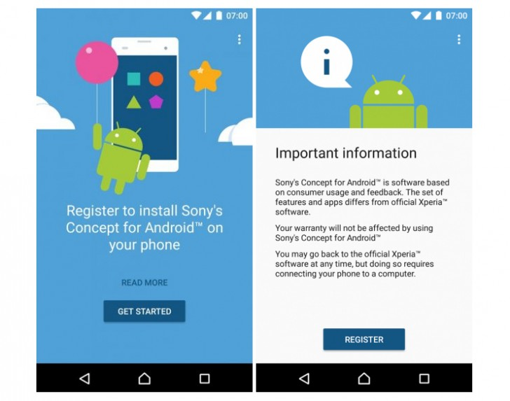 """Sony releases """"Concept for Android"""" software based on ..."""