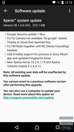 First Sony Xperia X Nougat concept update brings November security
