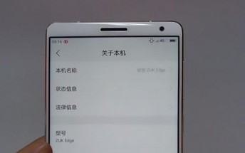 New ZUK Edge photos appear to show little signs of a curved panel