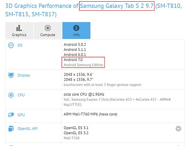 Test Samsung S2 Tablet
