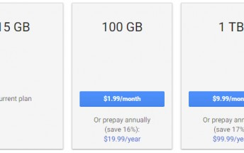 You can now save up to 17% on Google Drive storage by using annual billing