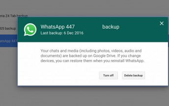 Backups folder starts showing up in Google Drive, allowing for easy management