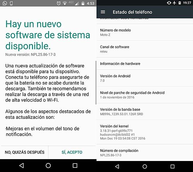 New update hitting Motorola Moto Z
